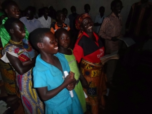 Jalasiga locals during church worship