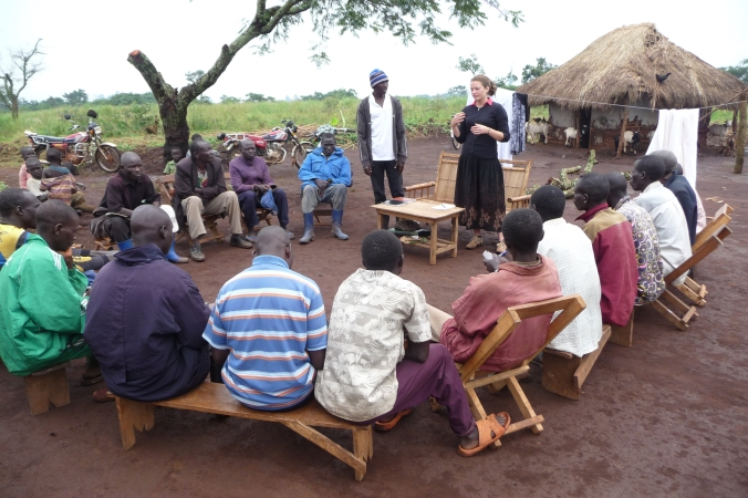 Community meeting in Jalasiga, DRC